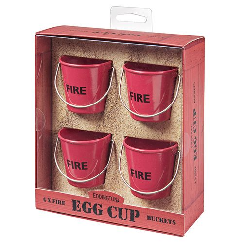 Eddingtons Fire Bucket Egg Cups Set Of 4