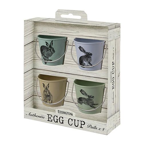 Eddingtons Set Of 4 Country Hares Egg Cups