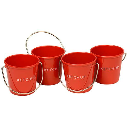 Eddingtons Ranch Ketchup Buckets Set Of 4