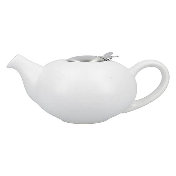 London Pottery Pebble Filter 4 Cup Teapot Matt White