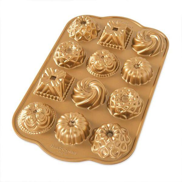 Nordic Ware Bundt Charms Pan Gold