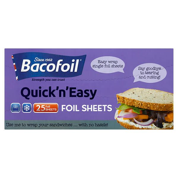 Bacofoil 25 Quick 'n' Easy Foil Sheets