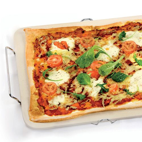 Eddingtons Rectangular Pizza Stone With Rack