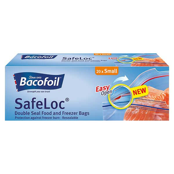 Bacofoil 20 x Small Double Seal Safeloc Bags