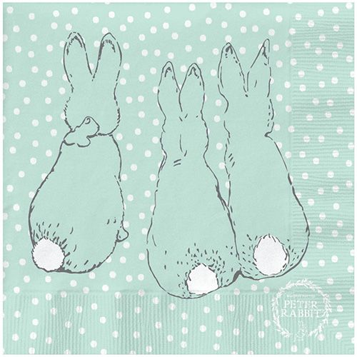 Peter Rabbit Contemporary Cotton Tail Polka Dot Napkins
