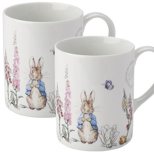 Peter Rabbit Classic Mugs Set Of Two