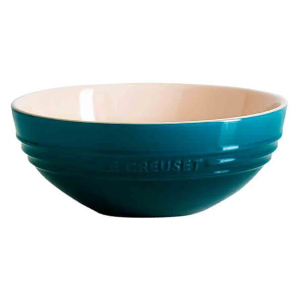Le Creuset Deep Teal Stoneware 20cm Serving Bowl