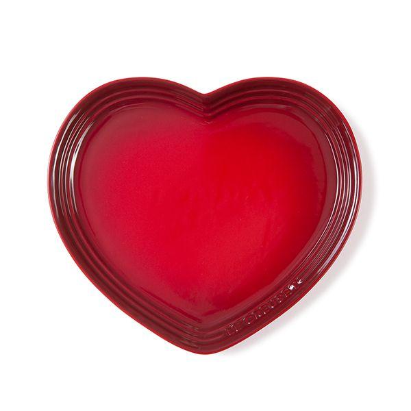 Le Creuset Cerise Stoneware Large Heart Plate