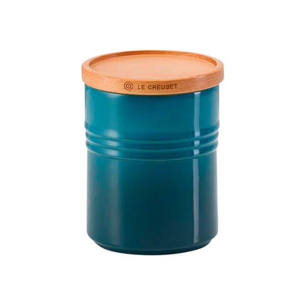 Le Creuset Deep Teal Stoneware Medium Storage Jar