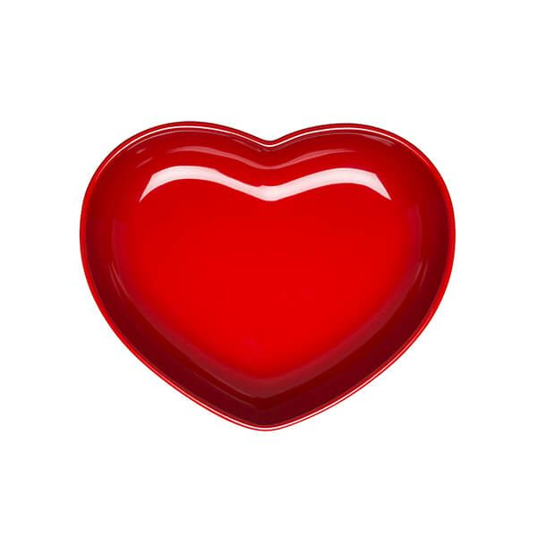 Le Creuset Cerise Stoneware 21cm Heart Dish