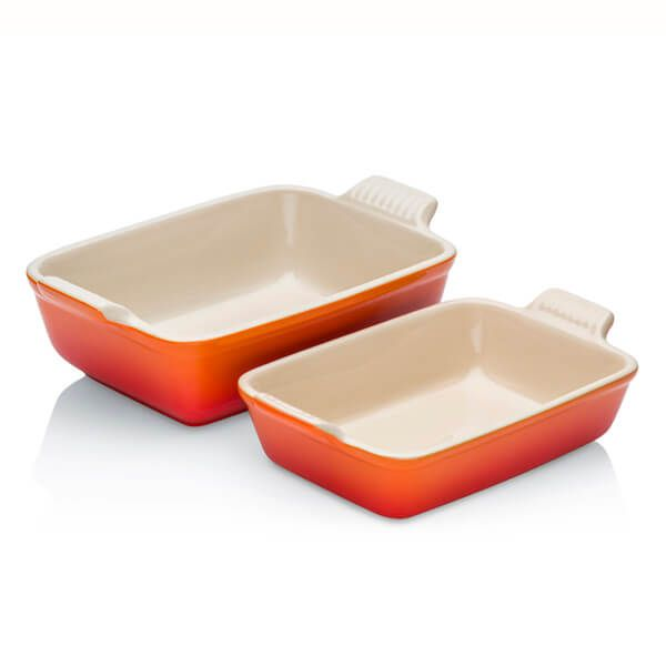 Le Creuset Volcanic Stoneware Heritage Rectangular Dish Multipack