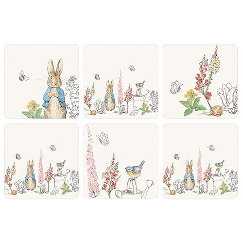Peter Rabbit Classic Set Of 6 Coasters