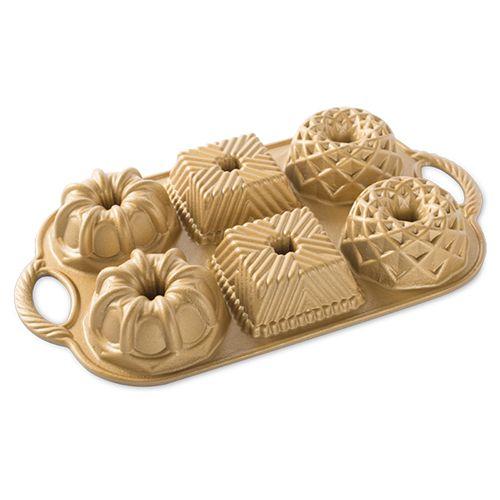 Nordic Ware Limited Edition Gold Geo Bundtlette Pan
