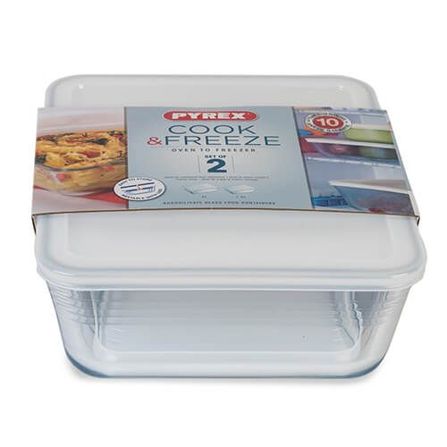 Pyrex Cook & Freeze 2 Piece Rectangular Storage Set