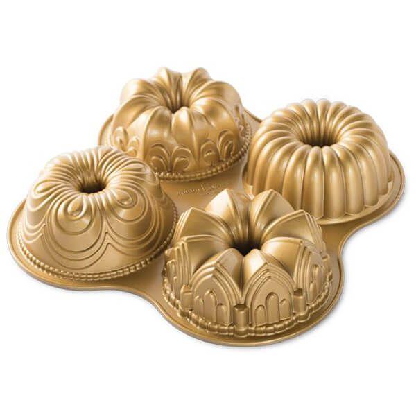 Nordic Ware Bundt Quartet Pan Gold