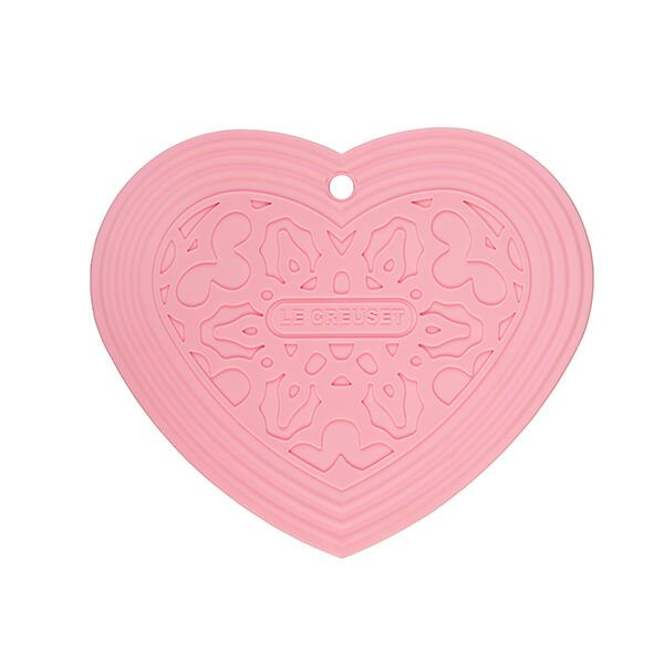 Le Creuset Powder Pink Heart Cool Tool