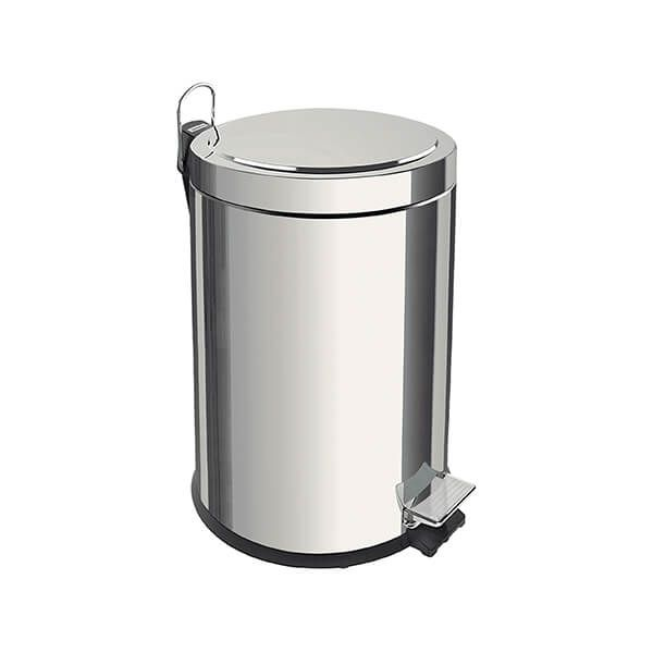 Tramontina Polished Stainless Steel Pedal Bin 5L