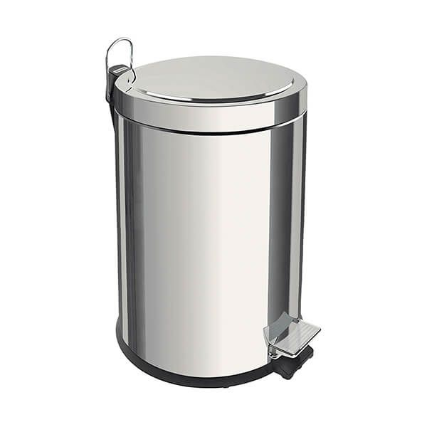 Tramontina Polished Stainless Steel Pedal Bin 12L