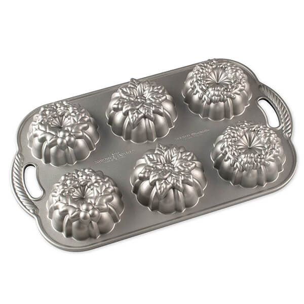 Nordic Ware Silver Wreathlettes Pan