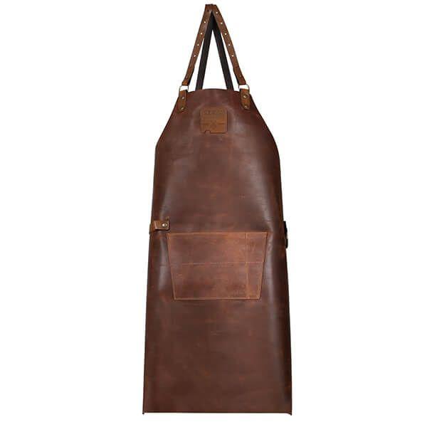Boska Mr. Smith Cross Body Leather Culinary Apron Brown