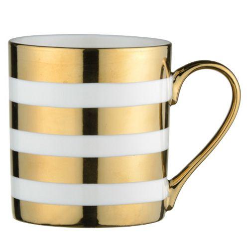 BIA Stripes Mug Gold