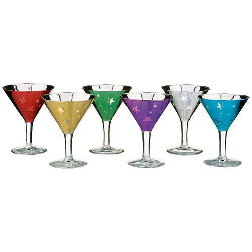 Artland Set Of 6 Shooting Stars Mini Martinis