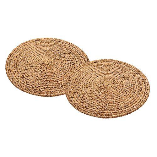 Artesà Set of 2 Bamboo Rattan Placemats