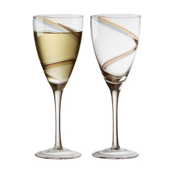 Anton Studios Set of 2 Arc Wine Glasses