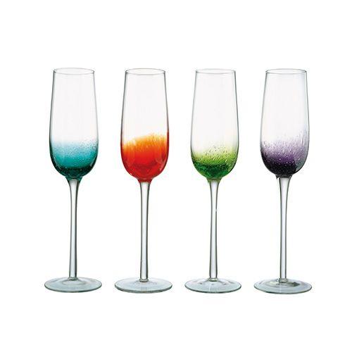 Anton Studios Fizz Set of 4 Champagne Flutes