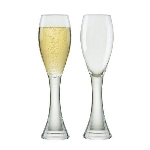 Anton Studios Design Manhattan Set of 2 Champagne Flutes