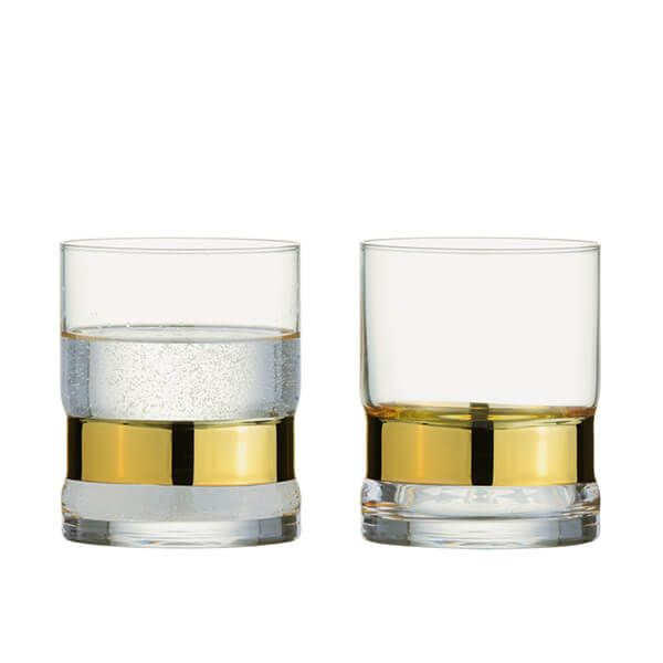 Anton Studios Set of 2 SoHo DOF Tumblers Gold