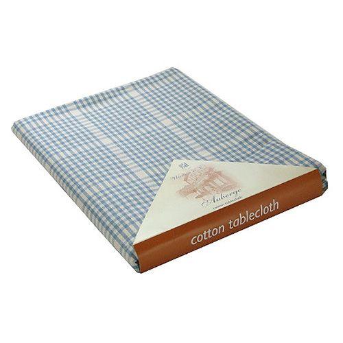 Walton & Co Auberge Gingham Tablecloth 130 x 280cm Wedgwood Blue