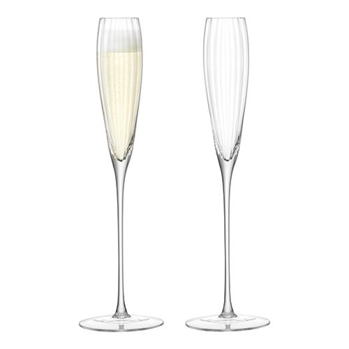 LSA Aurelia Grand Champagne Flute 165ml Clear Optic Set Of Two