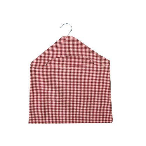 Walton & Co Auberge Gingham Peg Bag Red