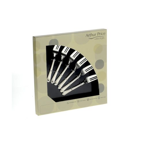 Arthur Price Classic Bead Set of 6 Pastry Forks