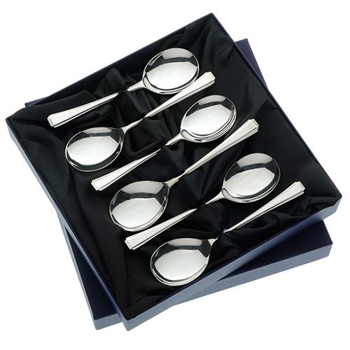 Arthur Price of England Harley Sovereign Stainless Steel Set of 6 Fruit Spoons