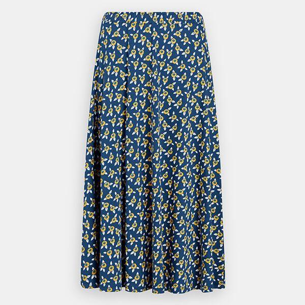 Seasalt Orchard Skirt Paper Cut Flowers Marine Size 12