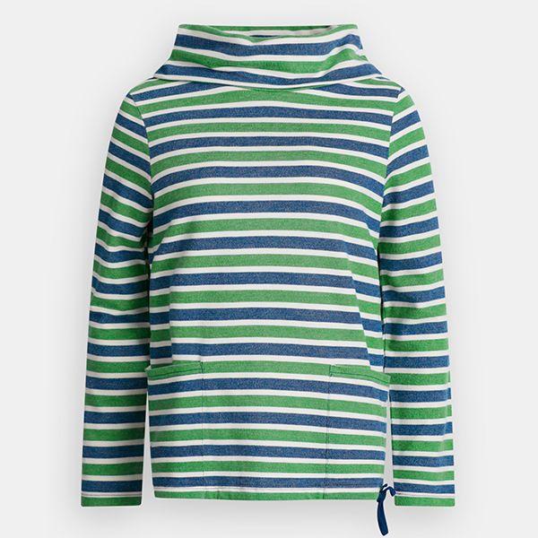 Seasalt Low Seas Sweatshirt Breton Night Hedgerow Size 10