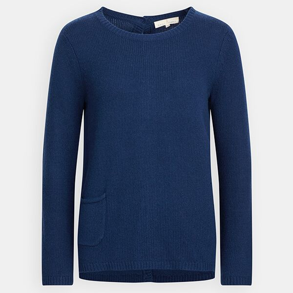 Seasalt Lino Cut Jumper French Blue