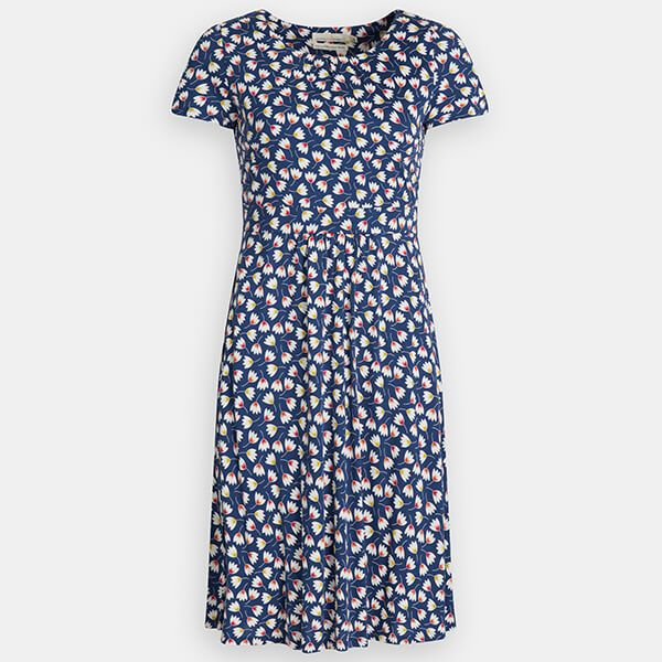 Seasalt Carnmoggas Dress Tulip Geo Marine Size 18