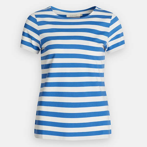 Seasalt Sailor T-Shirt Cornish Borage Chalk Size 12