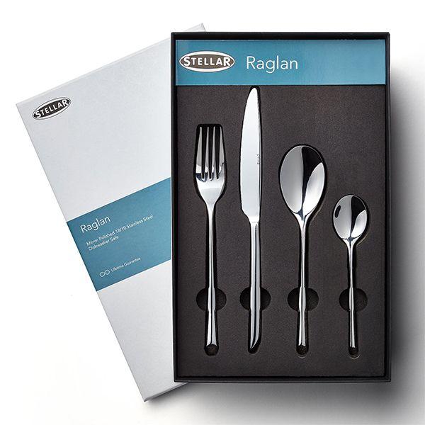 Stellar Raglan Polished 32 Piece Cutlery Gift Box Set