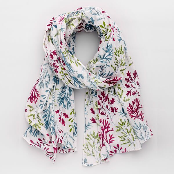 Seasalt Whitewash Scarf Seaweed Salt