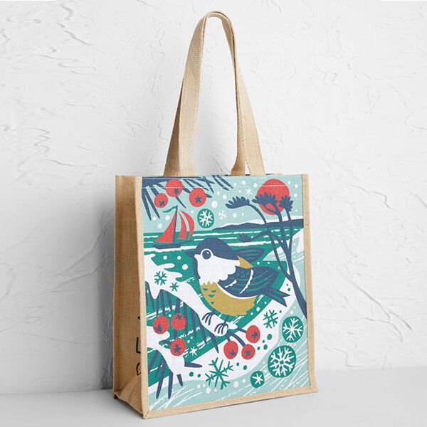 Seasalt Jute Shopper Season's Tweetings