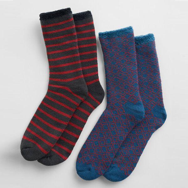 Seasalt Men's Cabin Socks Pack of 2 Foundation Mix