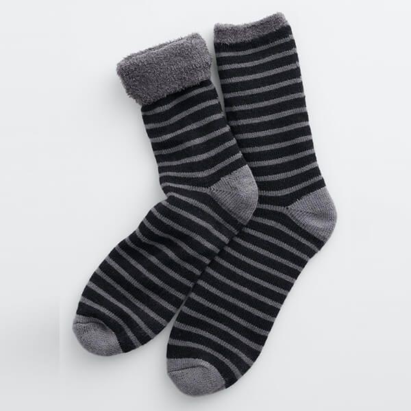Seasalt Men's Cabin Socks Breton Black Coal
