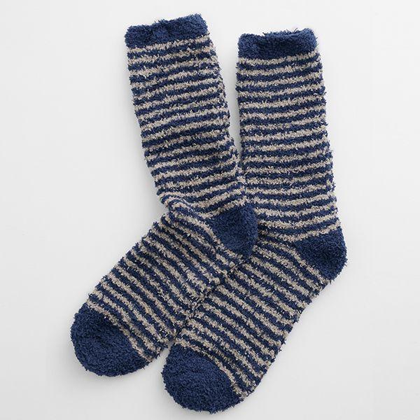 Seasalt Short Men's Fluffies Socks Canvas Midnight Bisque