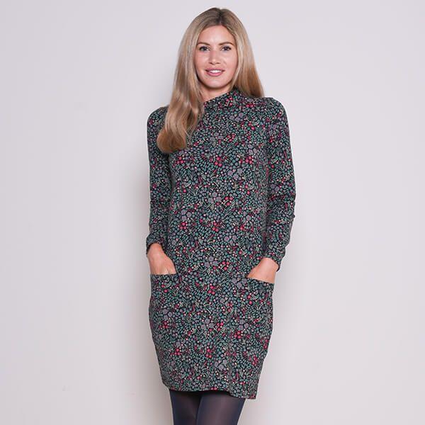 Brakeburn Ditsy Cowl Neck Dress Size 16