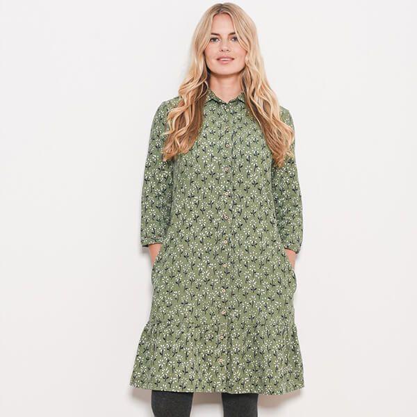 Brakeburn Eden Cord Shirt Dress Size 12