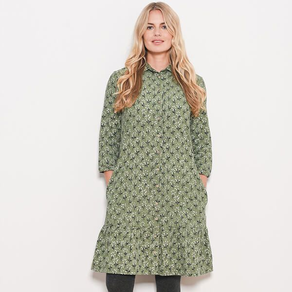 Brakeburn Eden Cord Shirt Dress Size 16